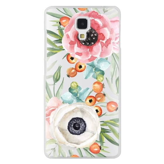 Xiaomi 4 Cases - Watercolor flowers and berries