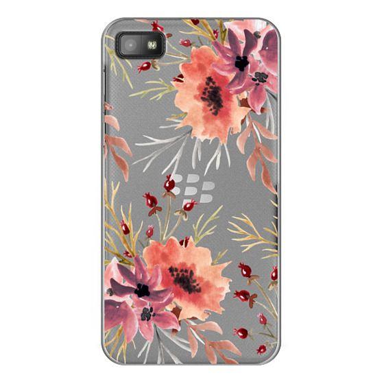 Blackberry Z10 Cases - Autumn flowers- Watercolor