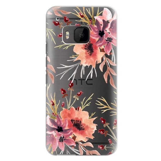 Htc One M9 Cases - Autumn flowers- Watercolor
