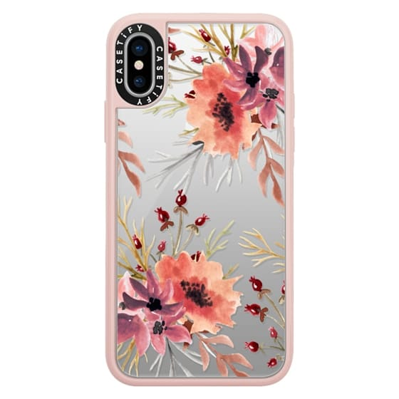 iPhone X Cases - Autumn flowers- Watercolor