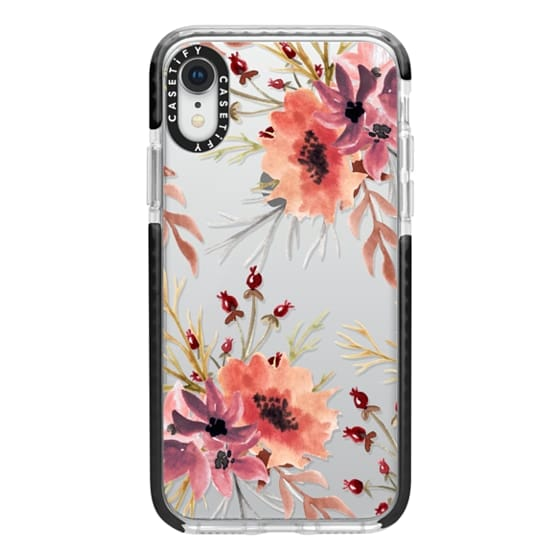 iPhone XR Cases - Autumn flowers- Watercolor