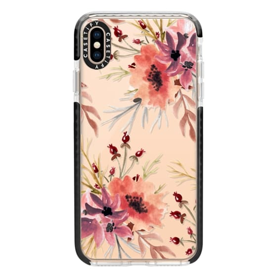 iPhone XS Max Cases - Autumn flowers- Watercolor