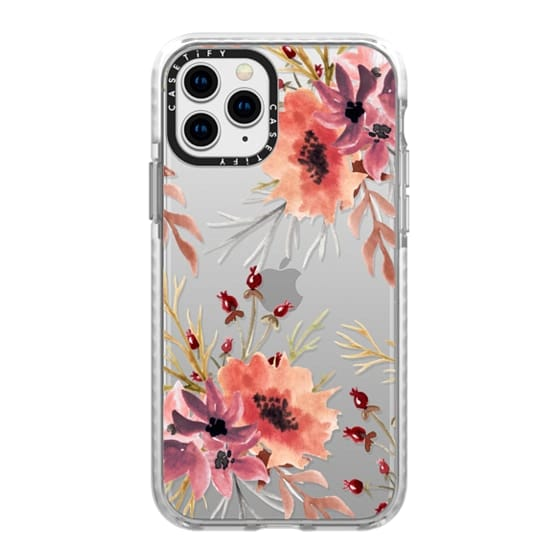iPhone 11 Pro Cases - Autumn flowers- Watercolor