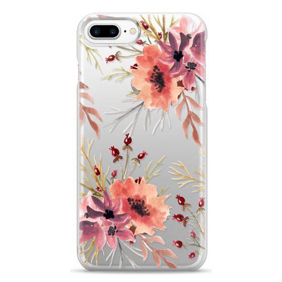 iPhone 7 Plus Cases - Autumn flowers- Watercolor