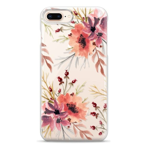 iPhone 8 Plus Cases - Autumn flowers- Watercolor