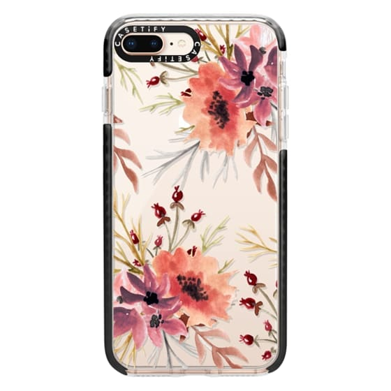 iPhone 8 Plus Cases - Autumn flowers- Watercolor