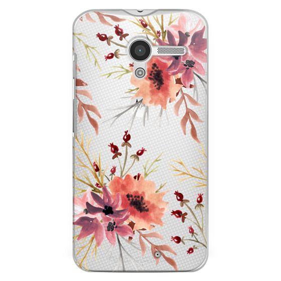 Moto X Cases - Autumn flowers- Watercolor