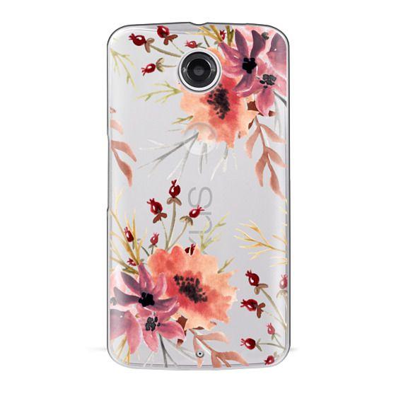 Nexus 6 Cases - Autumn flowers- Watercolor