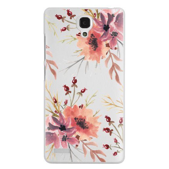 Redmi Note Cases - Autumn flowers- Watercolor