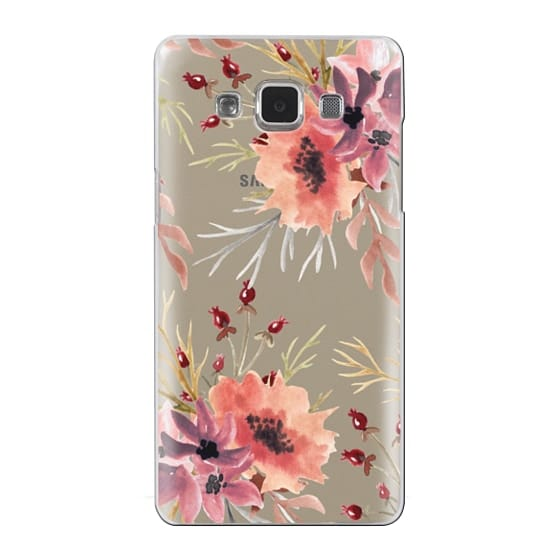 Samsung Galaxy A5 Cases - Autumn flowers- Watercolor