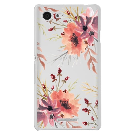Sony E3 Cases - Autumn flowers- Watercolor