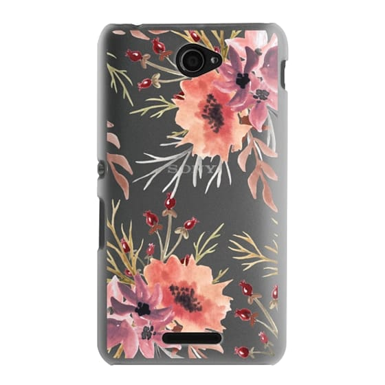 Sony E4 Cases - Autumn flowers- Watercolor
