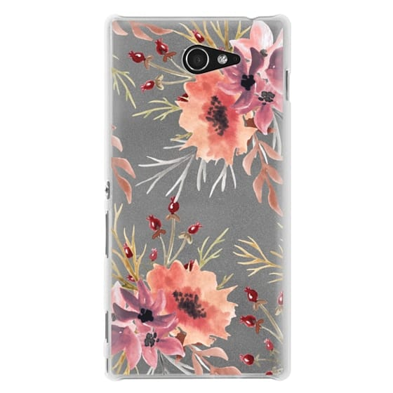 Sony M2 Cases - Autumn flowers- Watercolor
