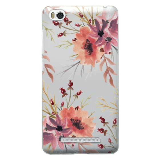 Xiaomi 4i Cases - Autumn flowers- Watercolor