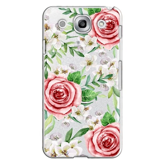 Optimus G Pro Cases - Red roses. Watercolor.