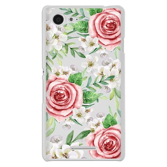 Sony E3 Cases - Red roses. Watercolor.