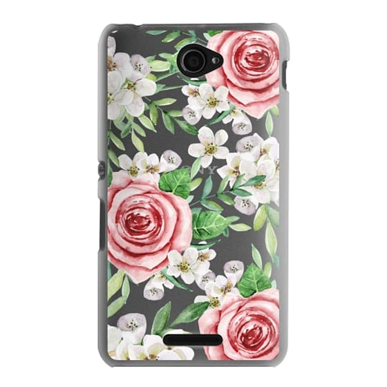 Sony E4 Cases - Red roses. Watercolor.