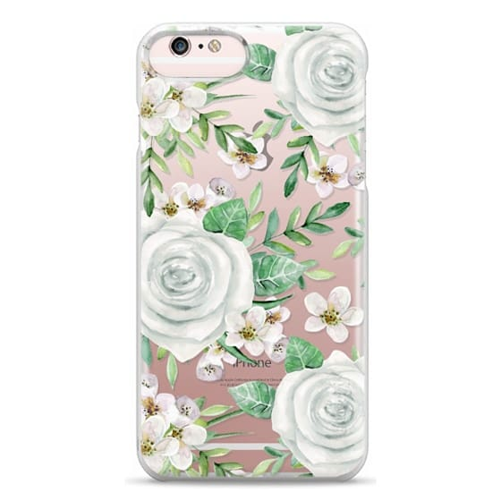 iPhone 6s Plus Cases - White roses. Watercolor pattern