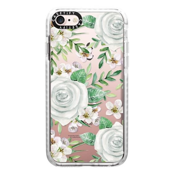 iPhone 7 Cases - White roses. Watercolor pattern