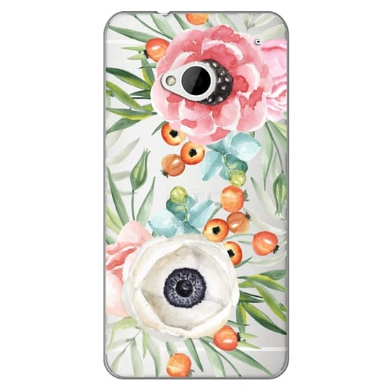 Htc One Cases - Watercolor flowers and berries