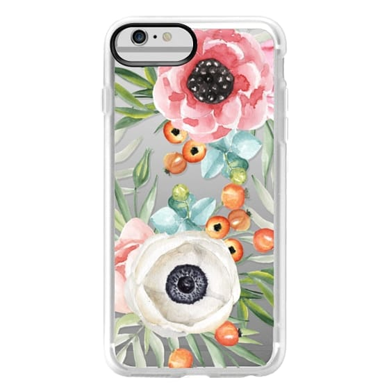 iPhone 6 Plus Cases - Watercolor flowers and berries