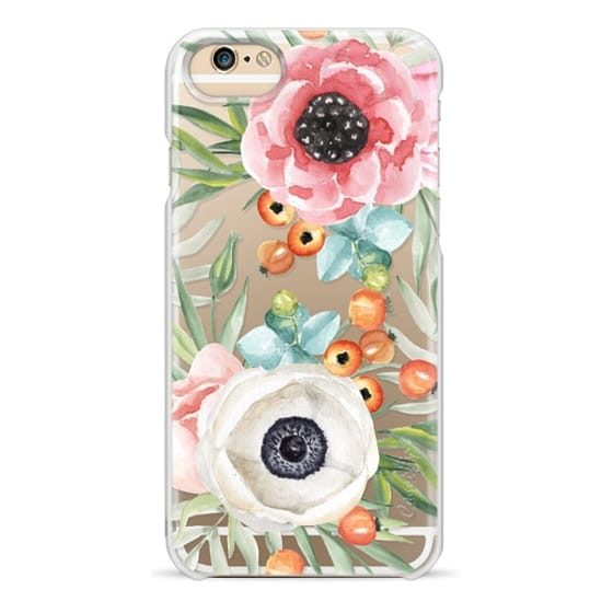 iPhone 6 Cases - Watercolor flowers and berries