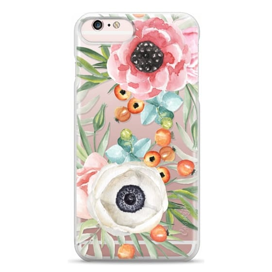 iPhone 6s Plus Cases - Watercolor flowers and berries