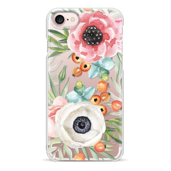 iPhone 7 Cases - Watercolor flowers and berries