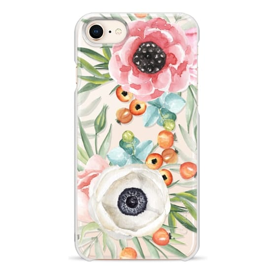 iPhone 8 Cases - Watercolor flowers and berries
