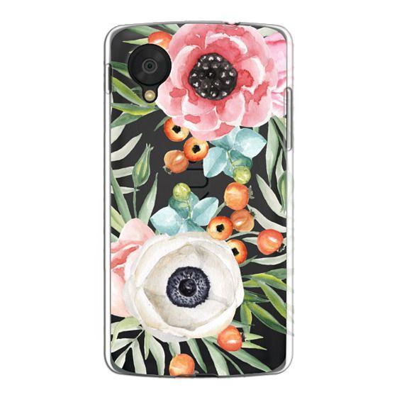Nexus 5 Cases - Watercolor flowers and berries