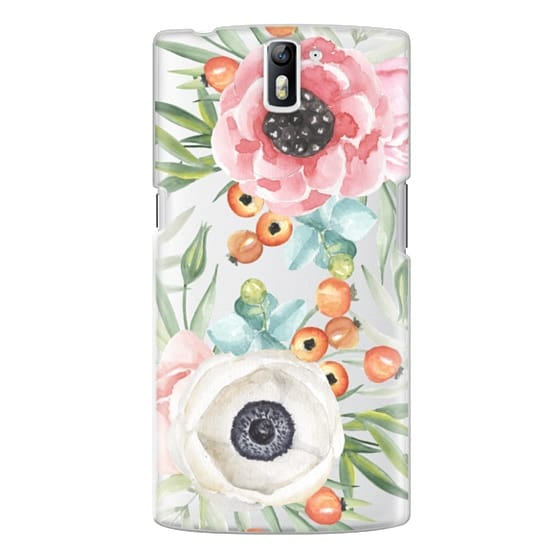 One Plus One Cases - Watercolor flowers and berries