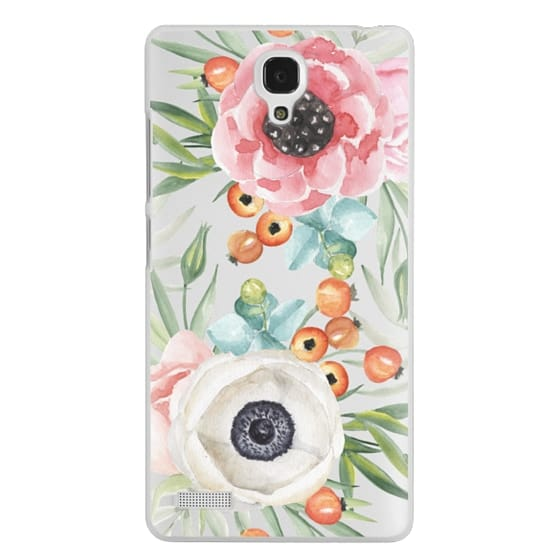 Redmi Note Cases - Watercolor flowers and berries