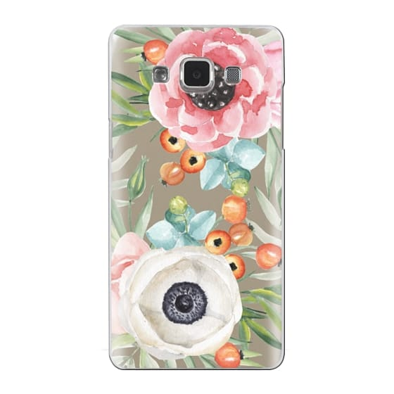 Samsung Galaxy A5 Cases - Watercolor flowers and berries