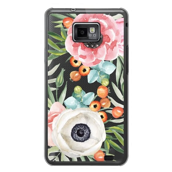 Samsung Galaxy S2 Cases - Watercolor flowers and berries