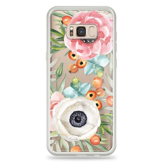 Samsung Galaxy S8 Plus Cases - Watercolor flowers and berries