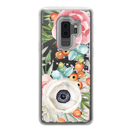 Samsung Galaxy S9 Plus Cases - Watercolor flowers and berries