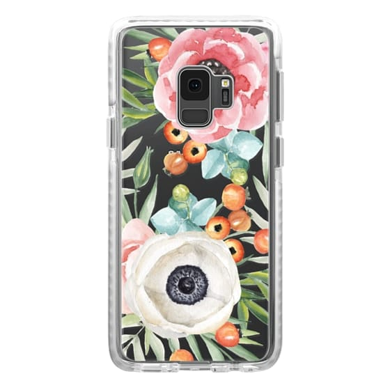 Samsung Galaxy S9 Cases - Watercolor flowers and berries