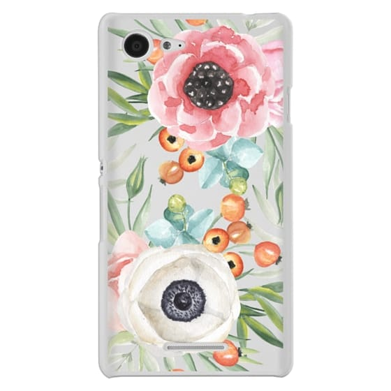 Sony E3 Cases - Watercolor flowers and berries