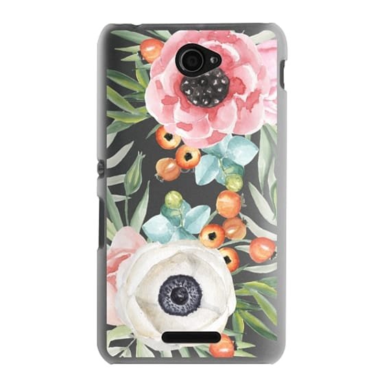 Sony E4 Cases - Watercolor flowers and berries