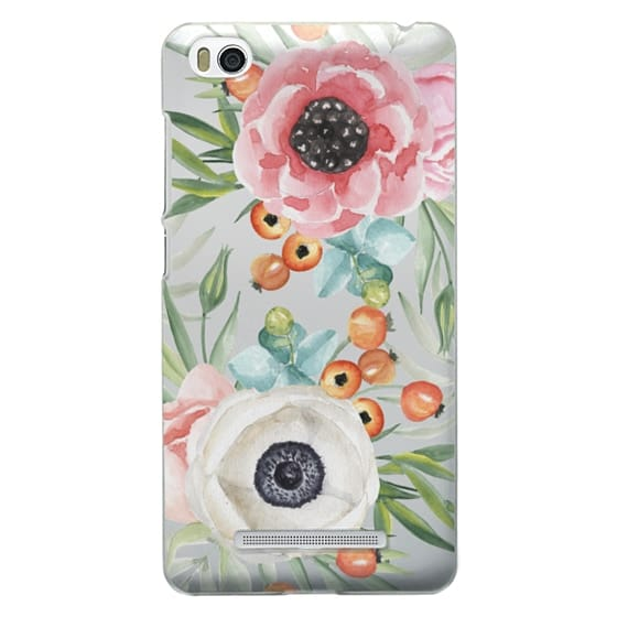 Xiaomi 4i Cases - Watercolor flowers and berries