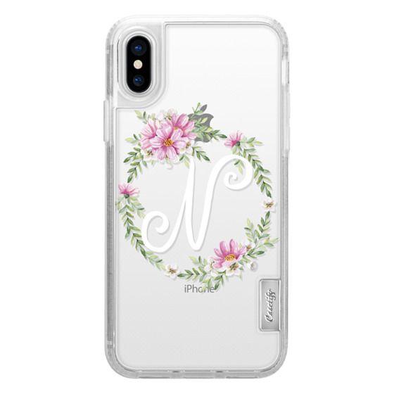 iPhone 6s Cases - Monogram (N). Watercolor wreath
