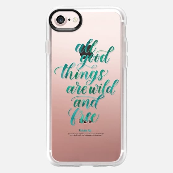 All Good Things Are Wild And Free (Green) - Thoreau - Snap Case