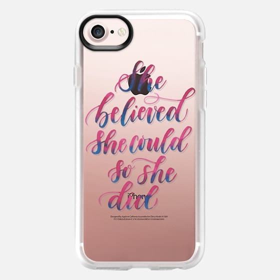 She Believed She Could So She Did - Snap Case