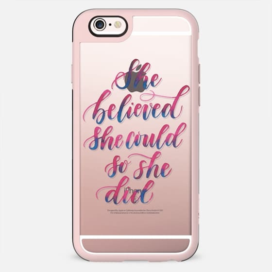 She Believed She Could So She Did - New Standard Case