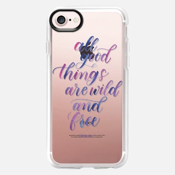 All Good Things Are Wild And Free (Purple) - Thoreau - Snap Case