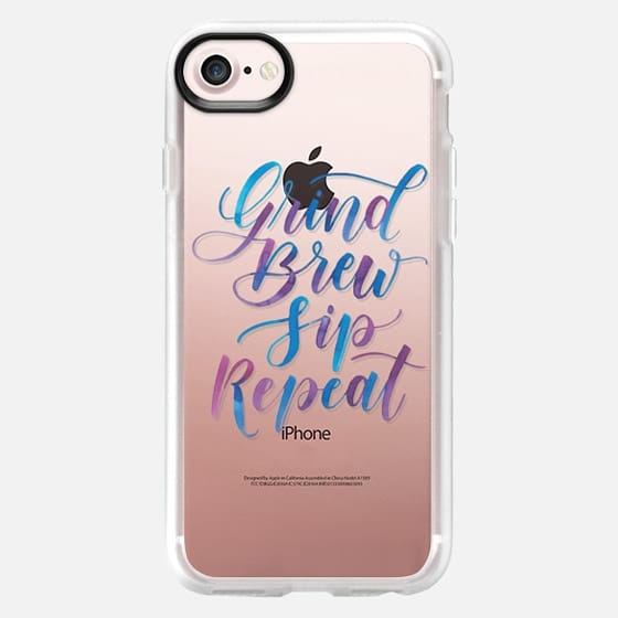 Grind Brew Sip Repeat - Snap Case