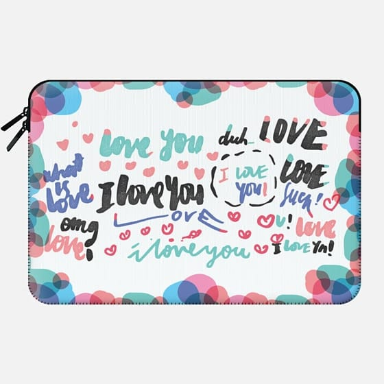 Scattered Love • Laptop Sleeves -