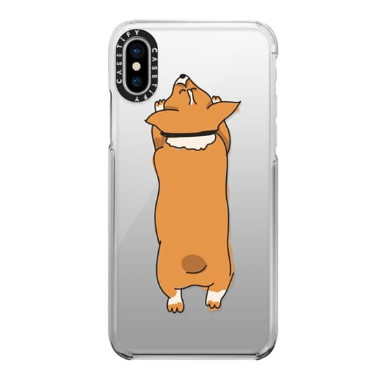 iPhone X Cases - One Corgi Sploot
