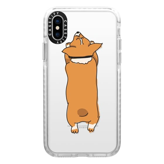 iPhone X Cases - One Corgi Sploot