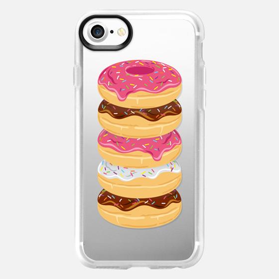 Pink & Sprinkles Donut Stack // Transparent Doughnuts - Wallet Case